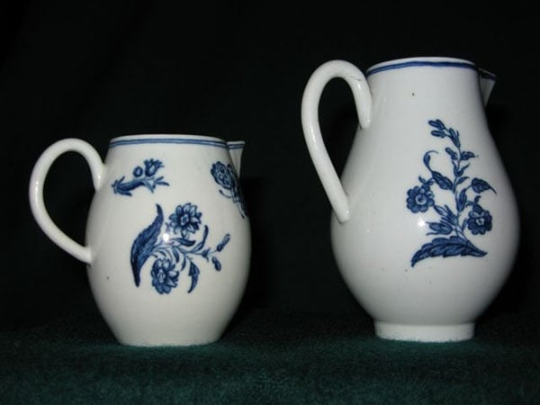 1) Collection of Caughley porcelain; 2) Portrait of Dorothy Turner (nee Gallimore)