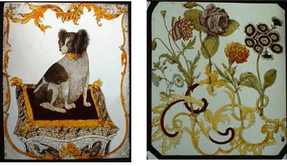 Stained glass panels from Gisburne Park