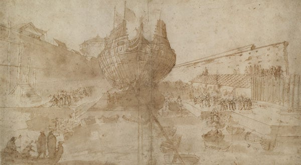 The Launch of a Galleon