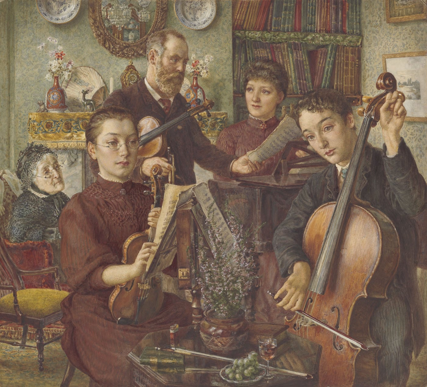 Interior with Musicians