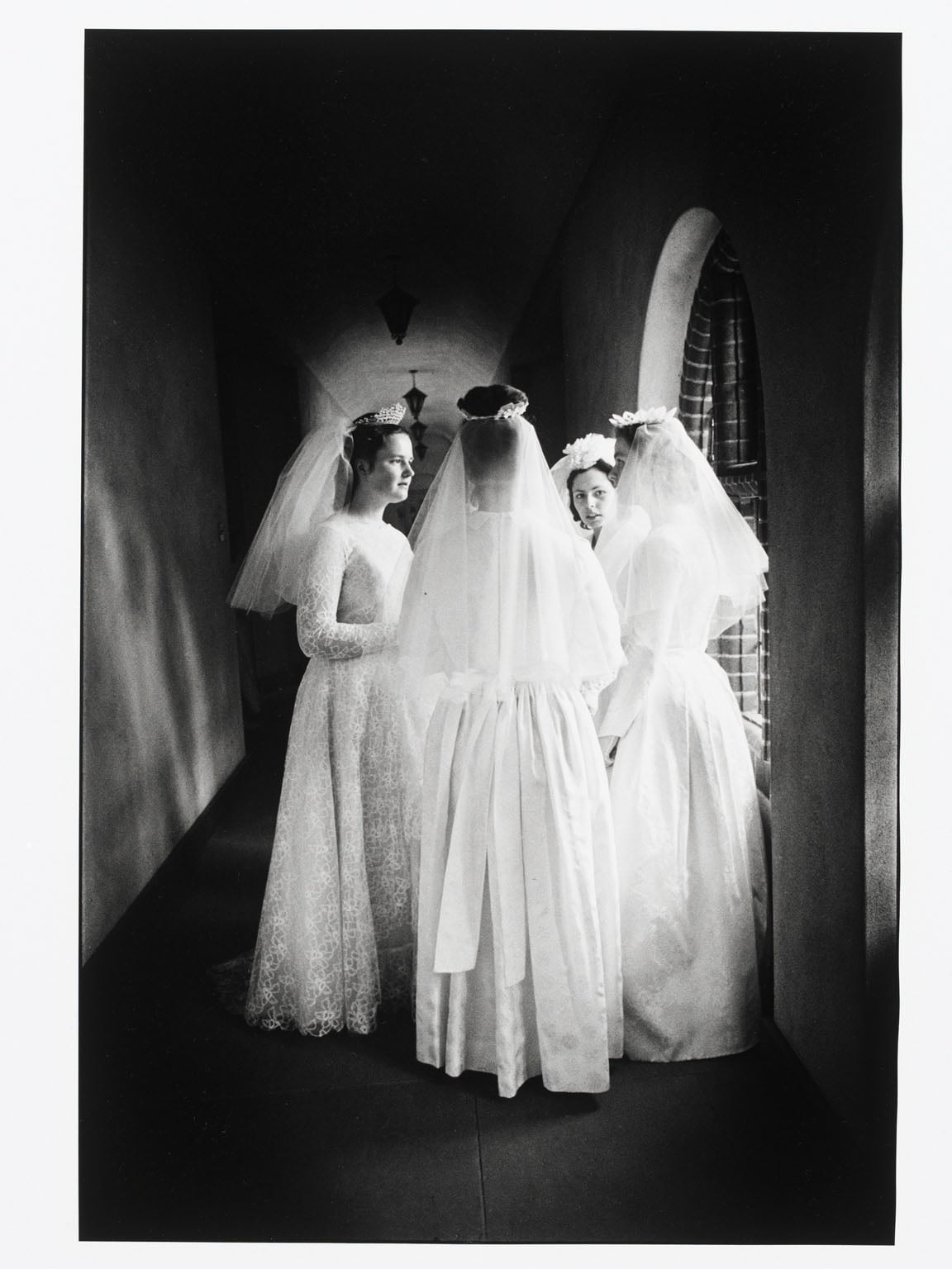 A meeting of brides of Christ on their wedding day to their Lord at the nunnery in Godalming, Surrey, 1965