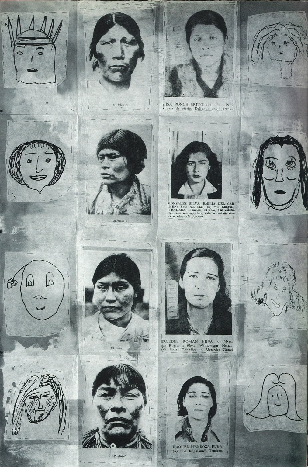 Three Airmail paintings: 1) Nine Survivors (Three Stains); 2) The 13th History of the Human Face (The Portal of H.); 3) Absent Feet