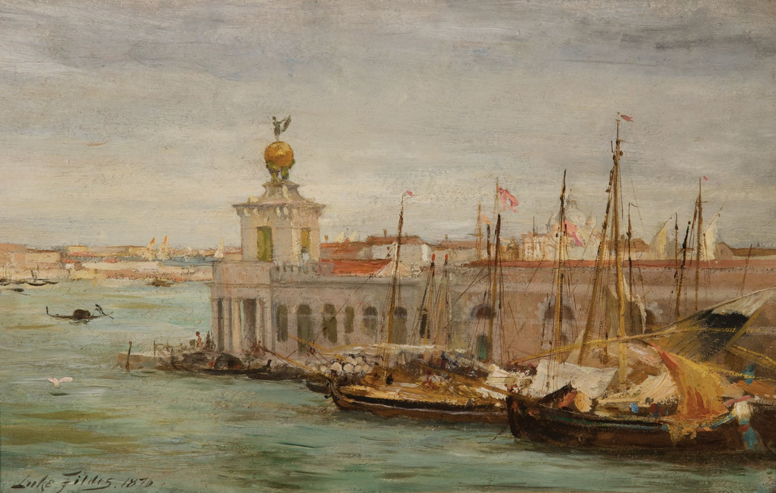 1) Venice; 2) Figures by the Water's Edge