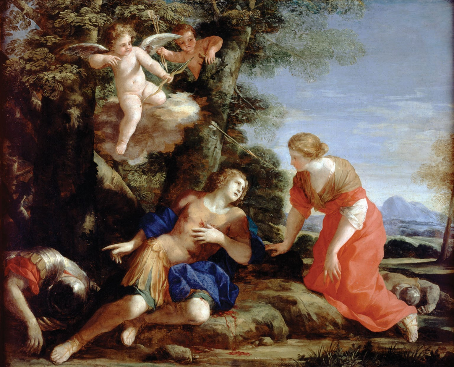 Angelica encountering the wounded Medoro