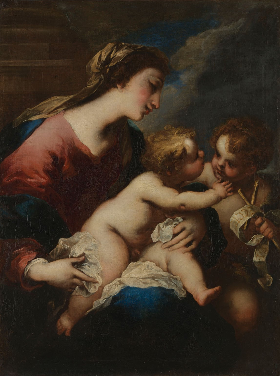 The Virgin and Child with St John the Baptist
