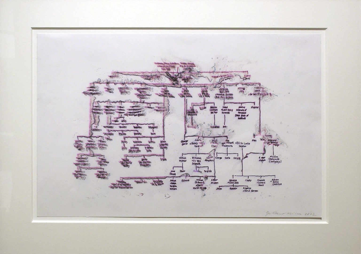 1) People on Fire; 2) Untitled (City Plan)