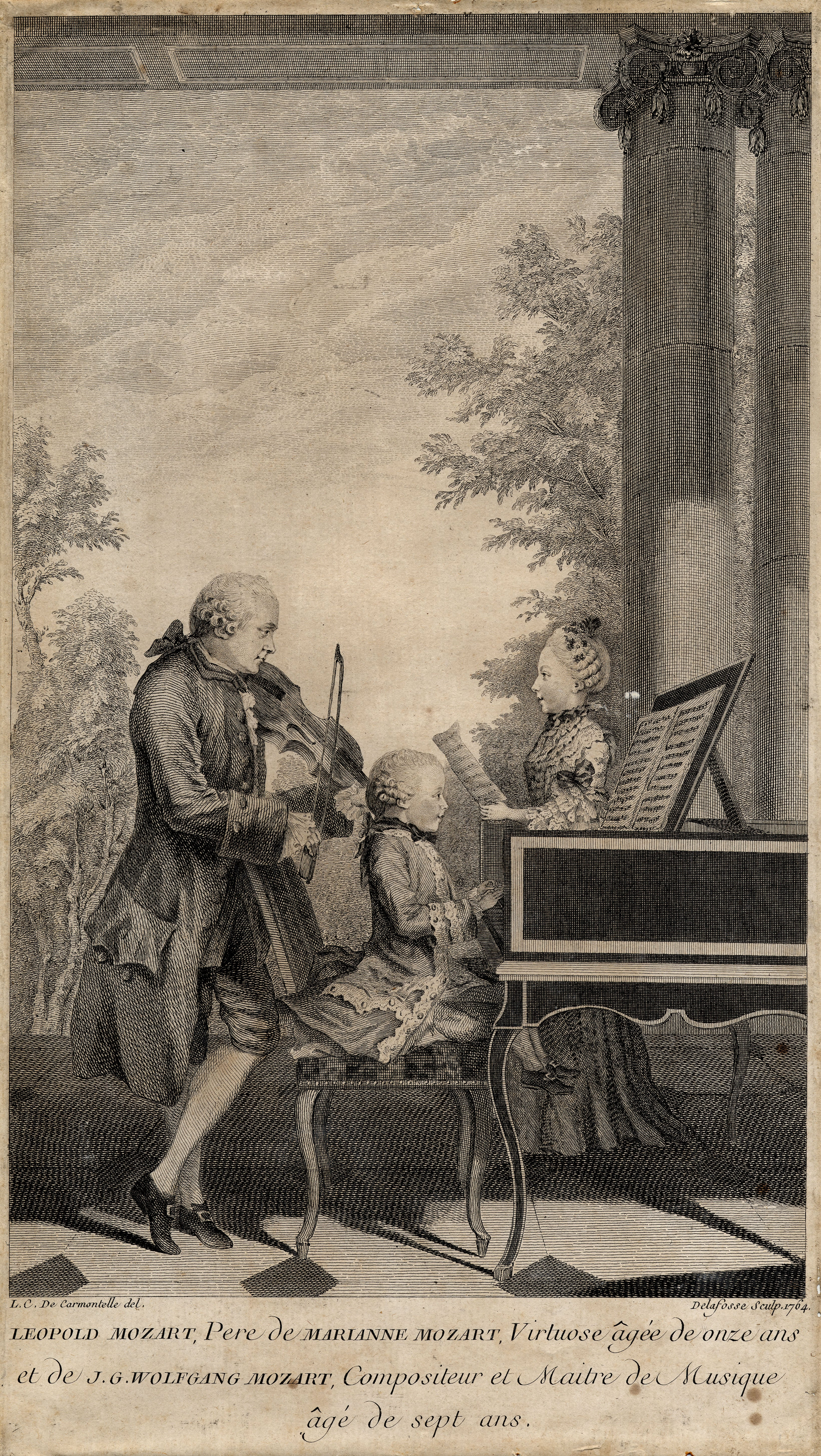 Leopold Mozart, father of Maria Anna Mozart, virtuoso, aged eleven, and of J.G. Wolfgang Mozart, composer and master aged seven