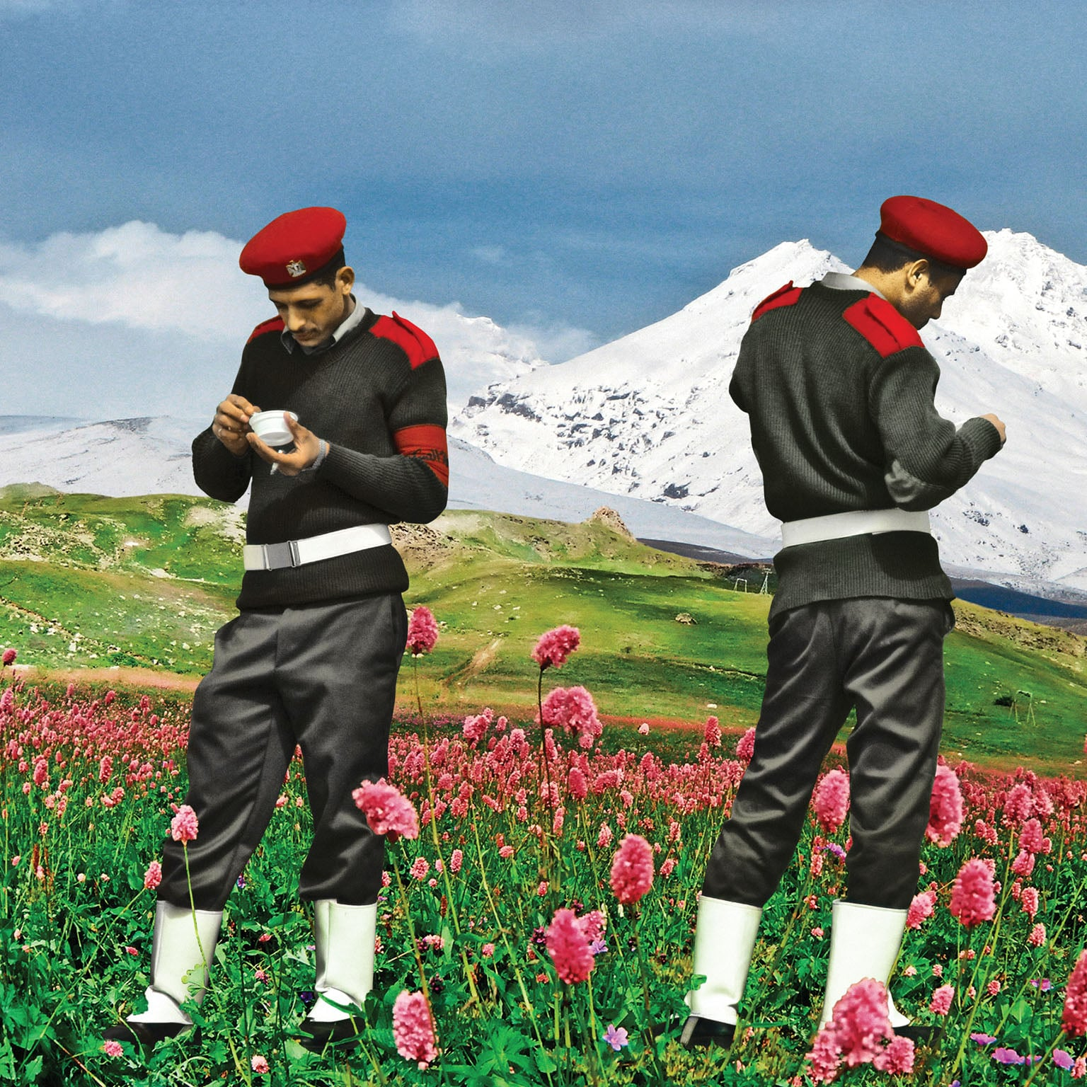 Photographs from the 'Upekkha' series (Art Fund Collection of Middle Eastern Photography)- 1) Armed Innocence II; 2) Spring (Sham el Nasseem); 3) The Break- Photographs from the 'Upekkha' series (Art Fund Collection of Middle Eastern P