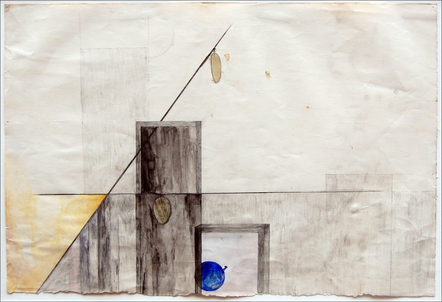 Two untitled drawings