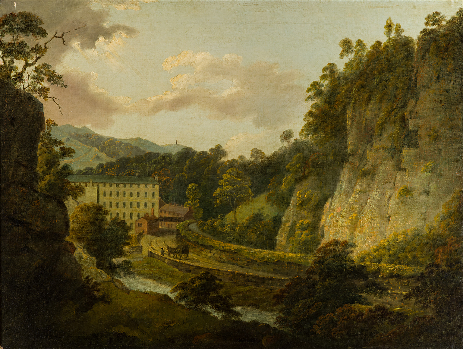 Arkwright's Cotton Mills, by Day and Willersley Castle, by Day