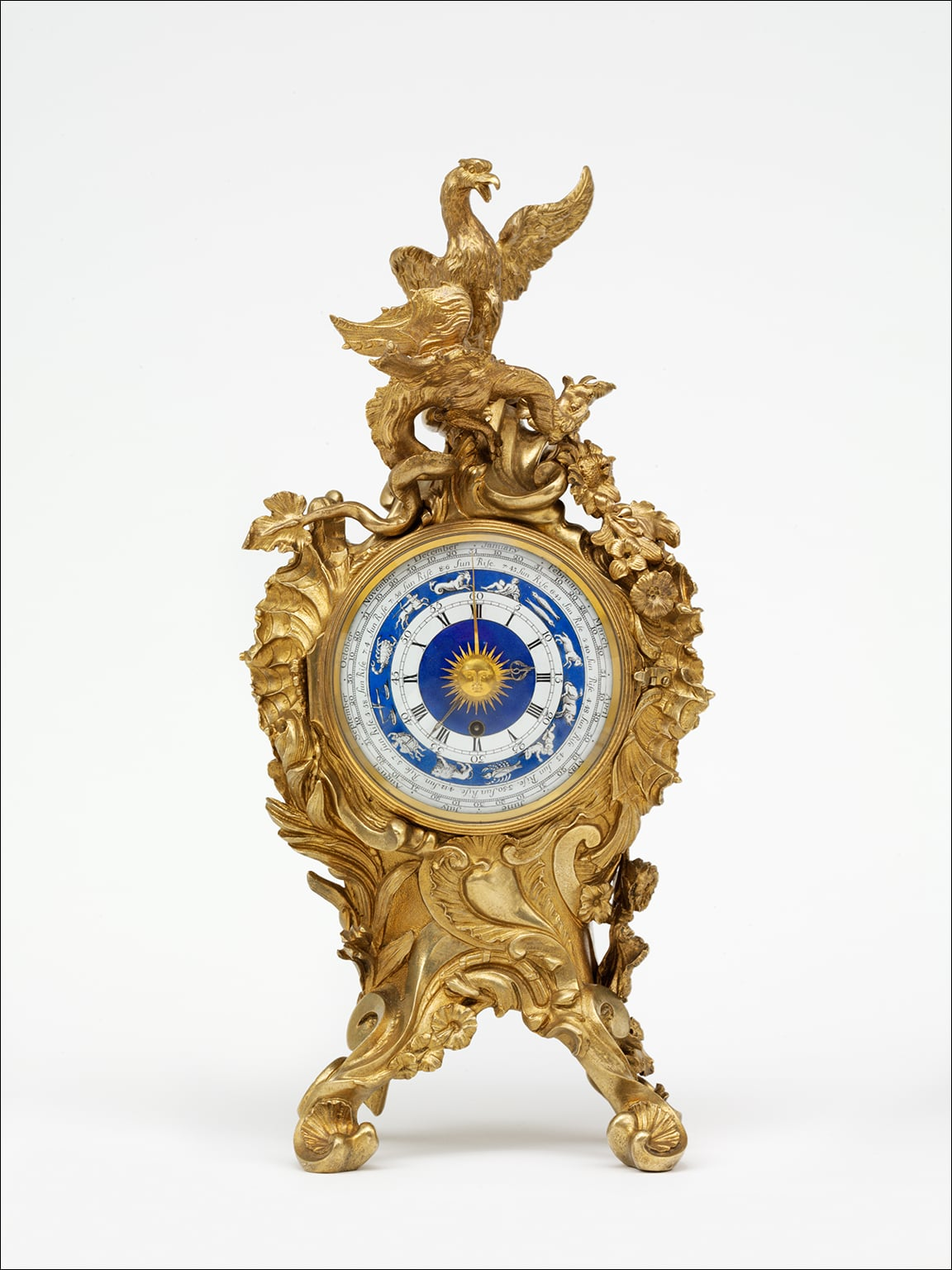 An ormolu mantel clock for Frederick, Prince of Wales