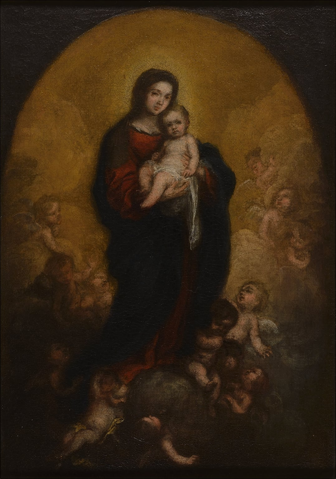 Oil study for 'The Virgin and Child in Glory'