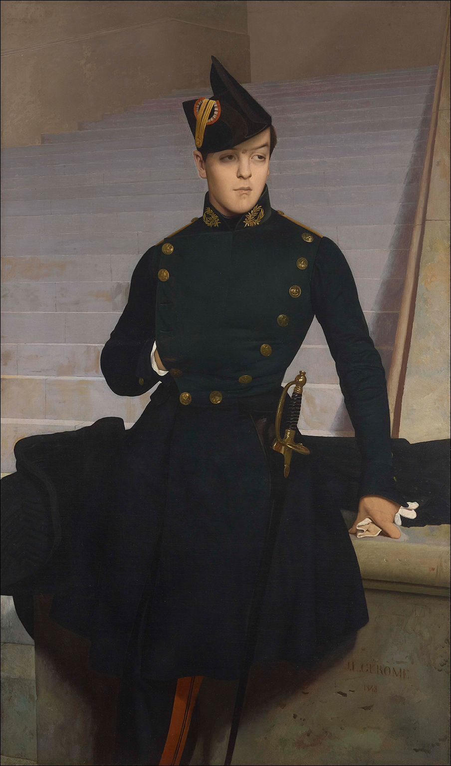 Jean-Leon Gerome, Portrait Of Claude-Armand Gerome (1827-50) Brother Of The Artist