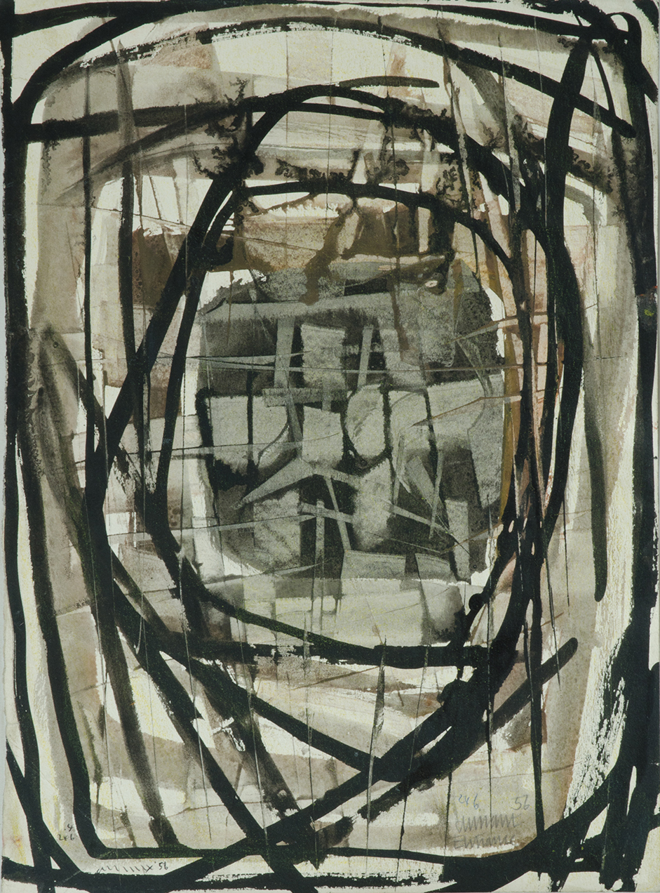 Untitled (Black And Cream Abstract)