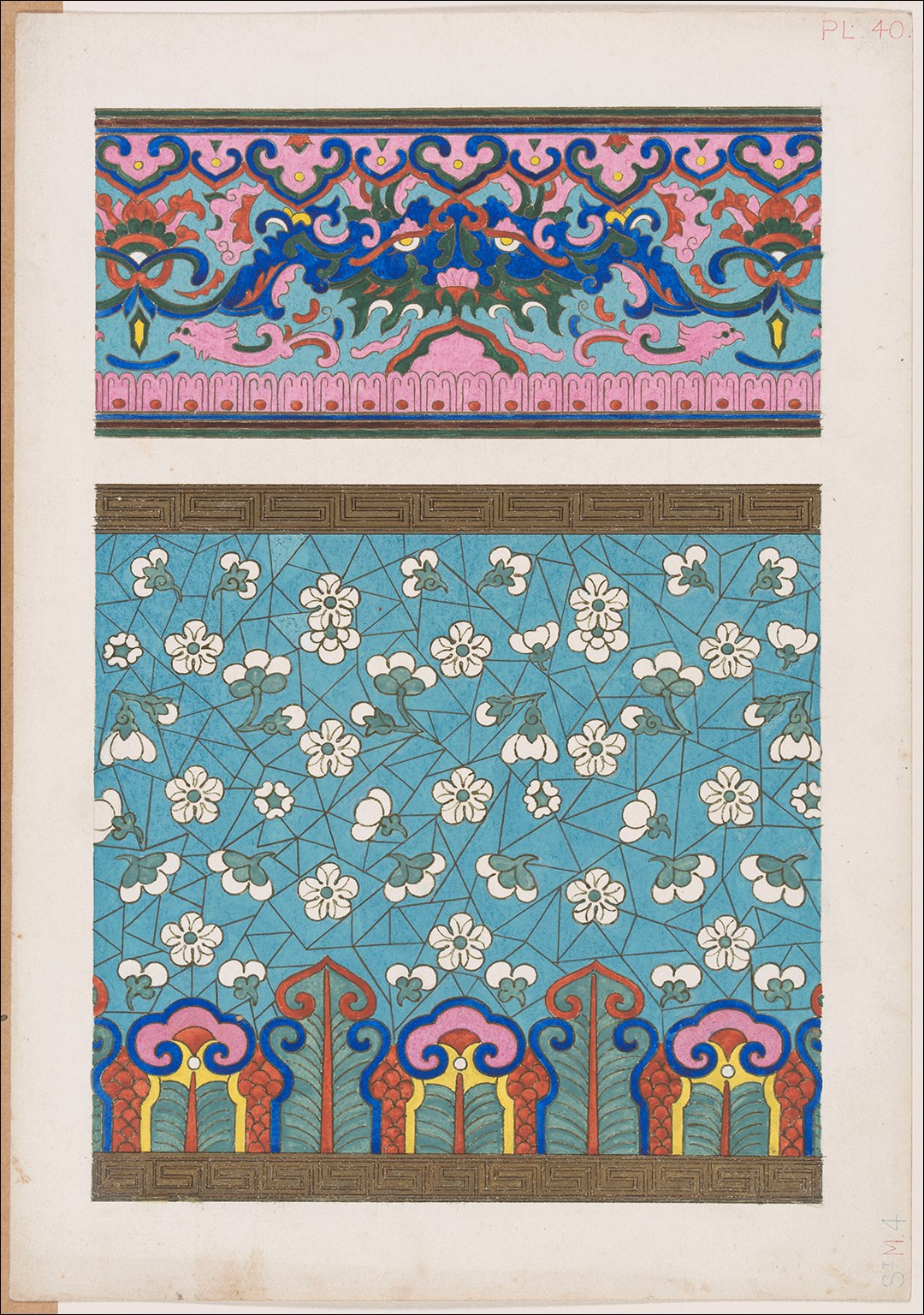 51 original designs for publication in 'Examples of Chinese Ornament selected from objects in the South Kensington Museum and other collections' (London: S. & T. Gilbert, 1867)