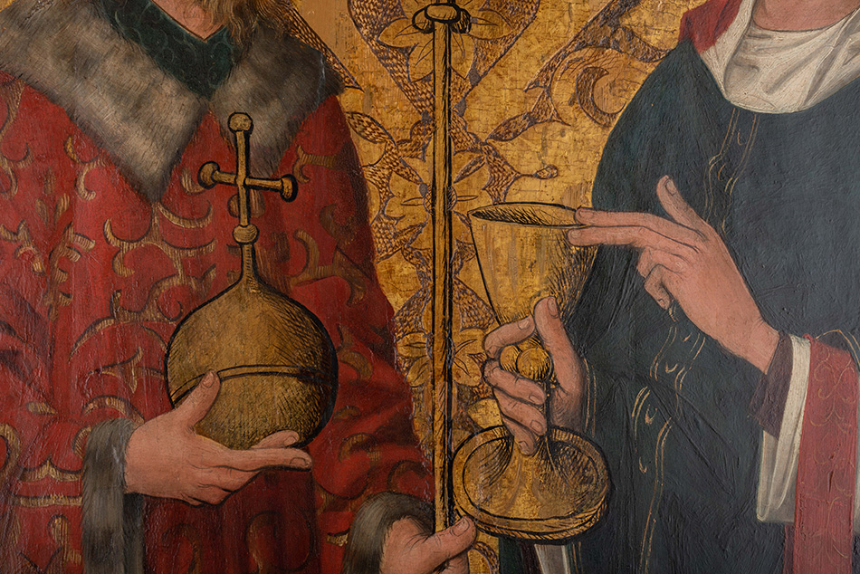 Two Standing Saints St Wenceslaus and St Lawrence