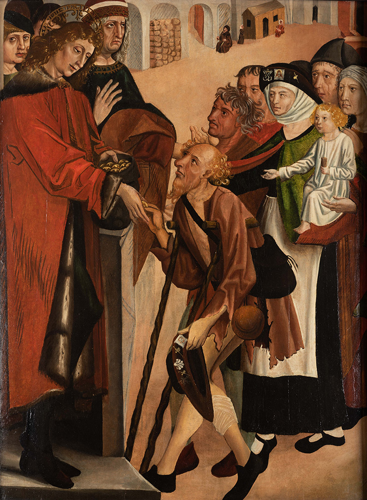 A Male Saint Giving Alms, courtesy of York Museums Trust (York Art Gallery)