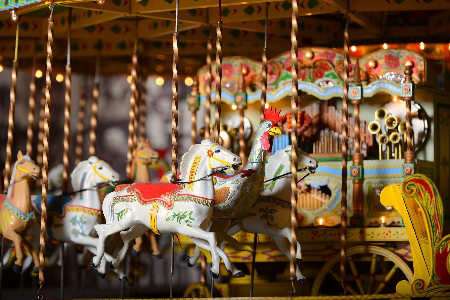 A close up photo of a model Savage's Carousel.