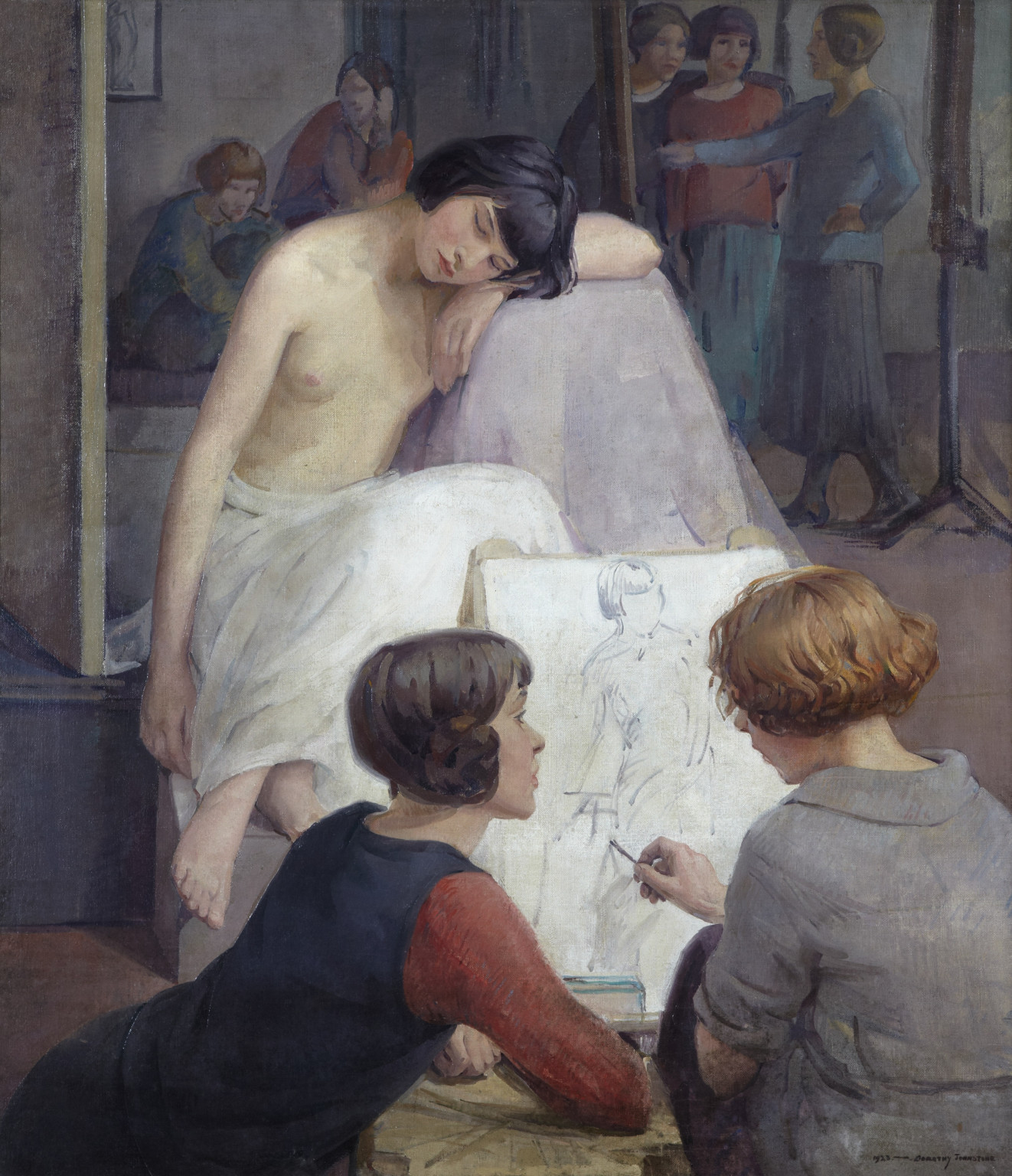 Dorothy Johnstone, Rest Time in the Life Class, 1923