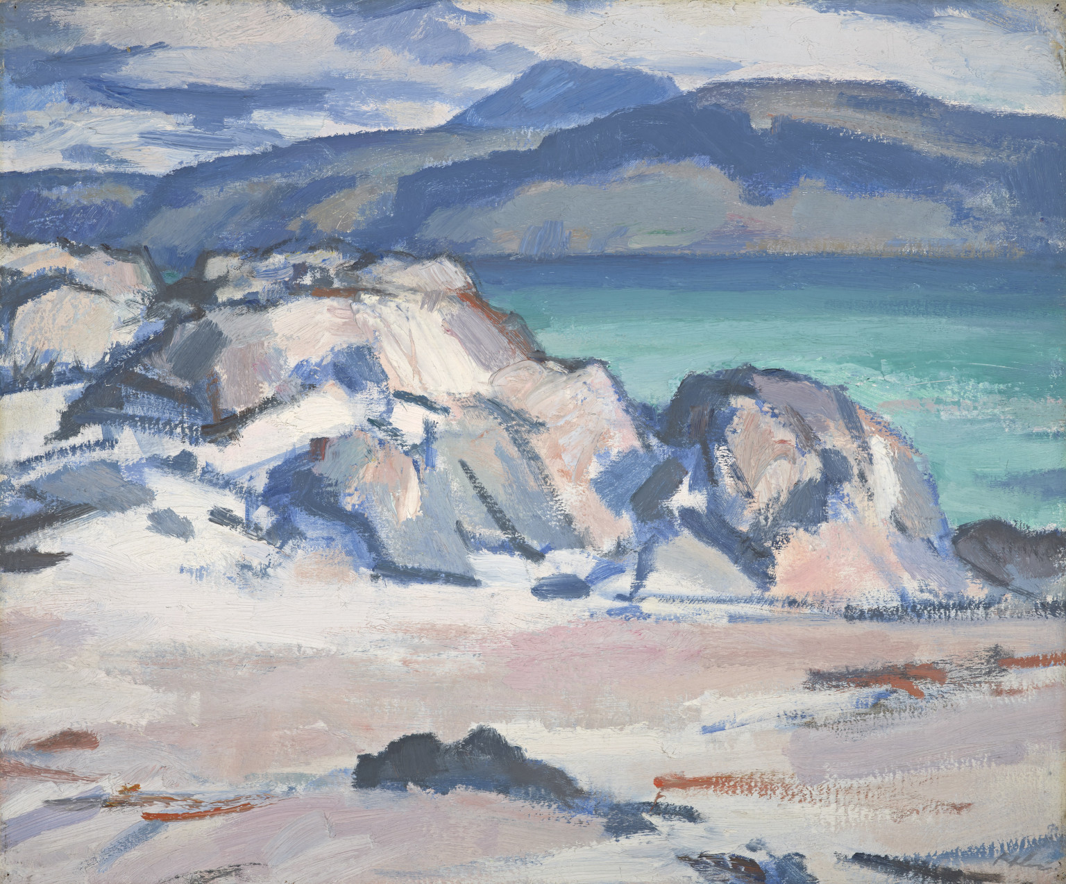 SJ Peploe, Iona, Mull and Ben More in the Distance, c1929