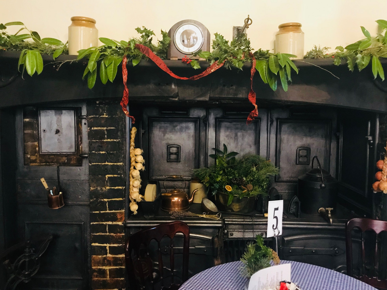 The Old Kitchen Tearoom festive decorations