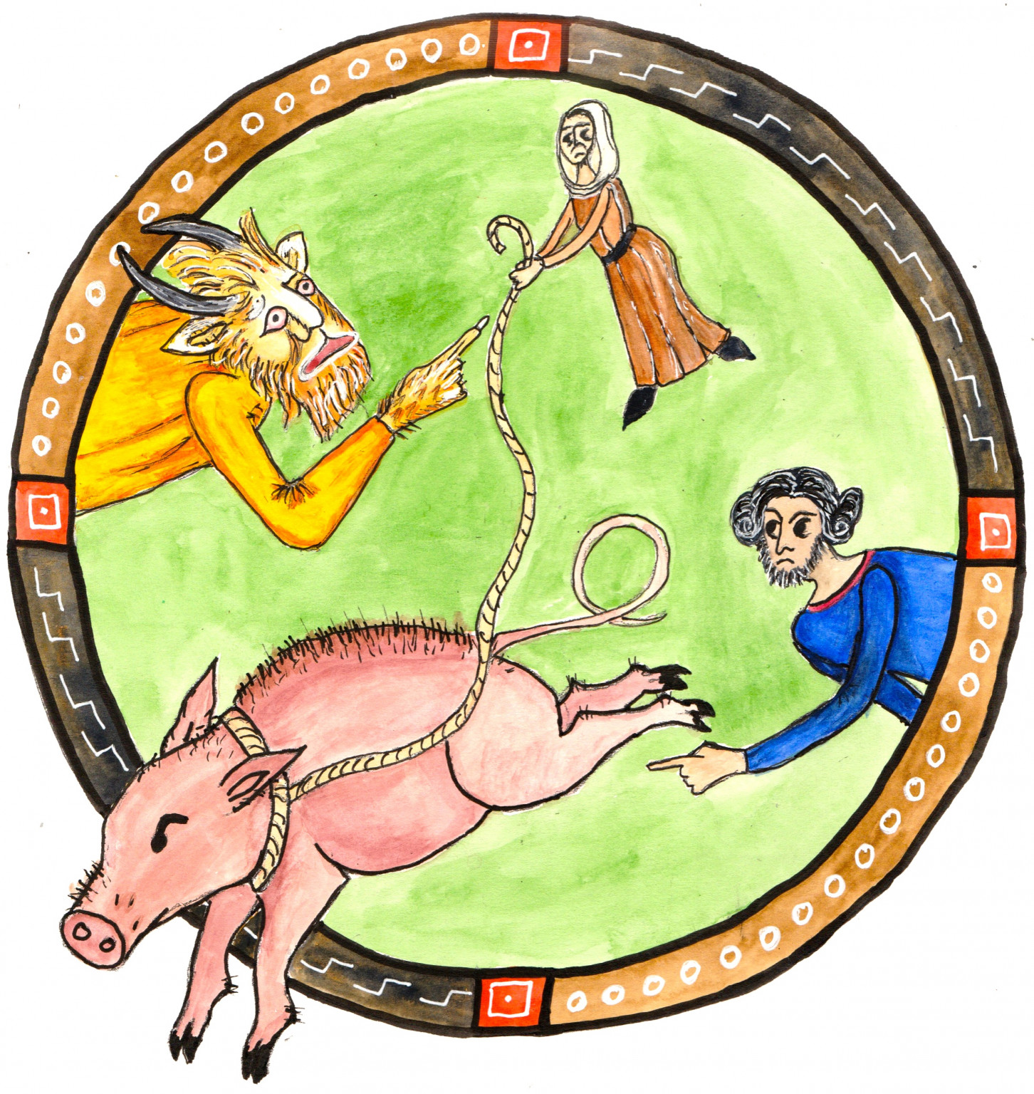 Illustration from Medieval Tales for Children