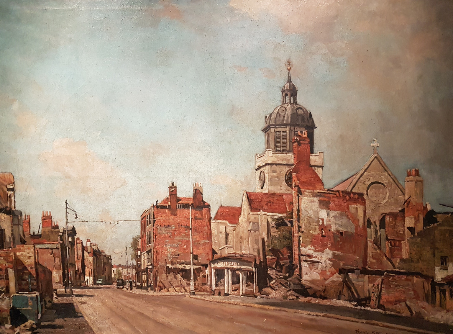 High Street, Old Portsmouth oil on canvas by Edward King