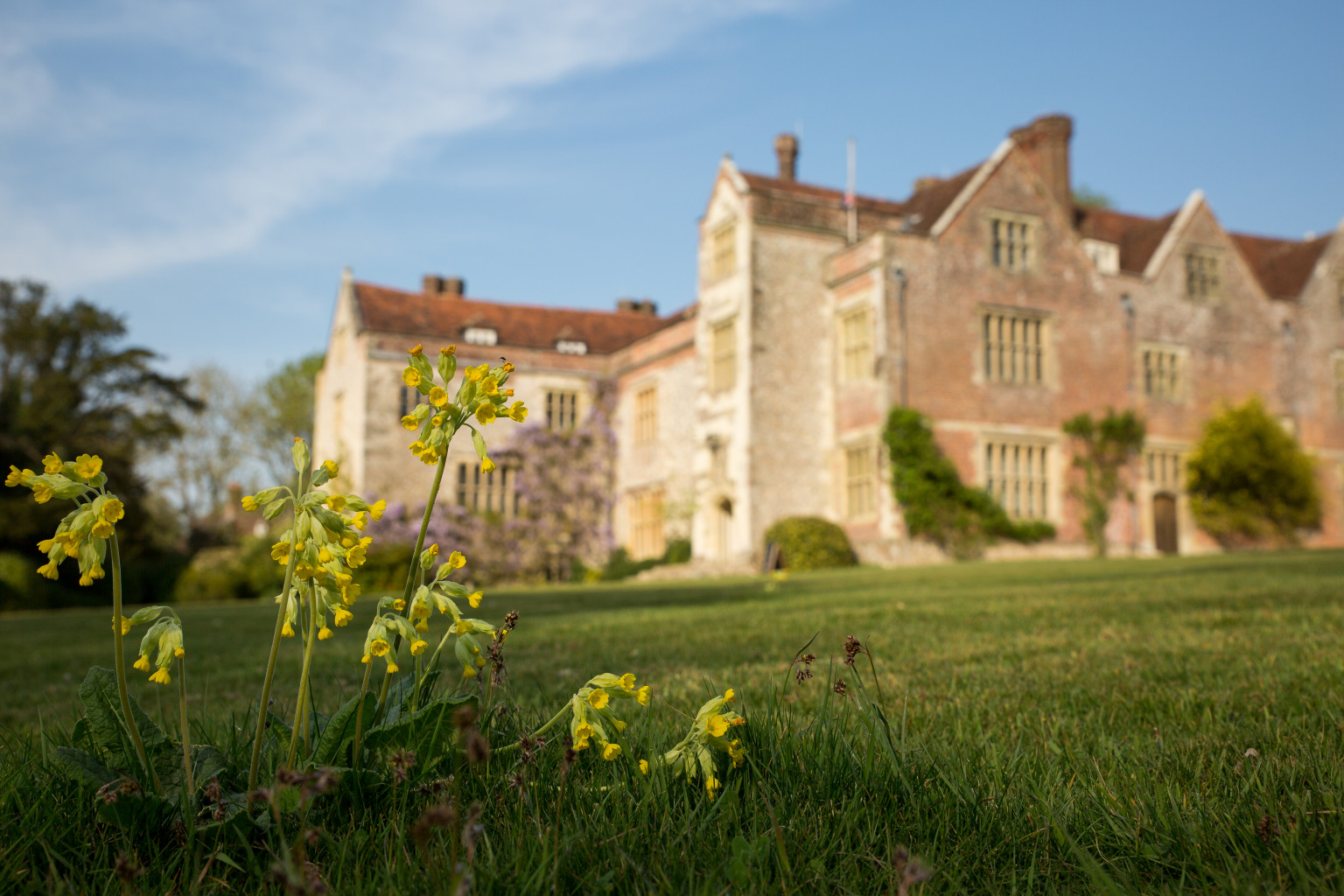 View of Chawton House from the South Lawn.