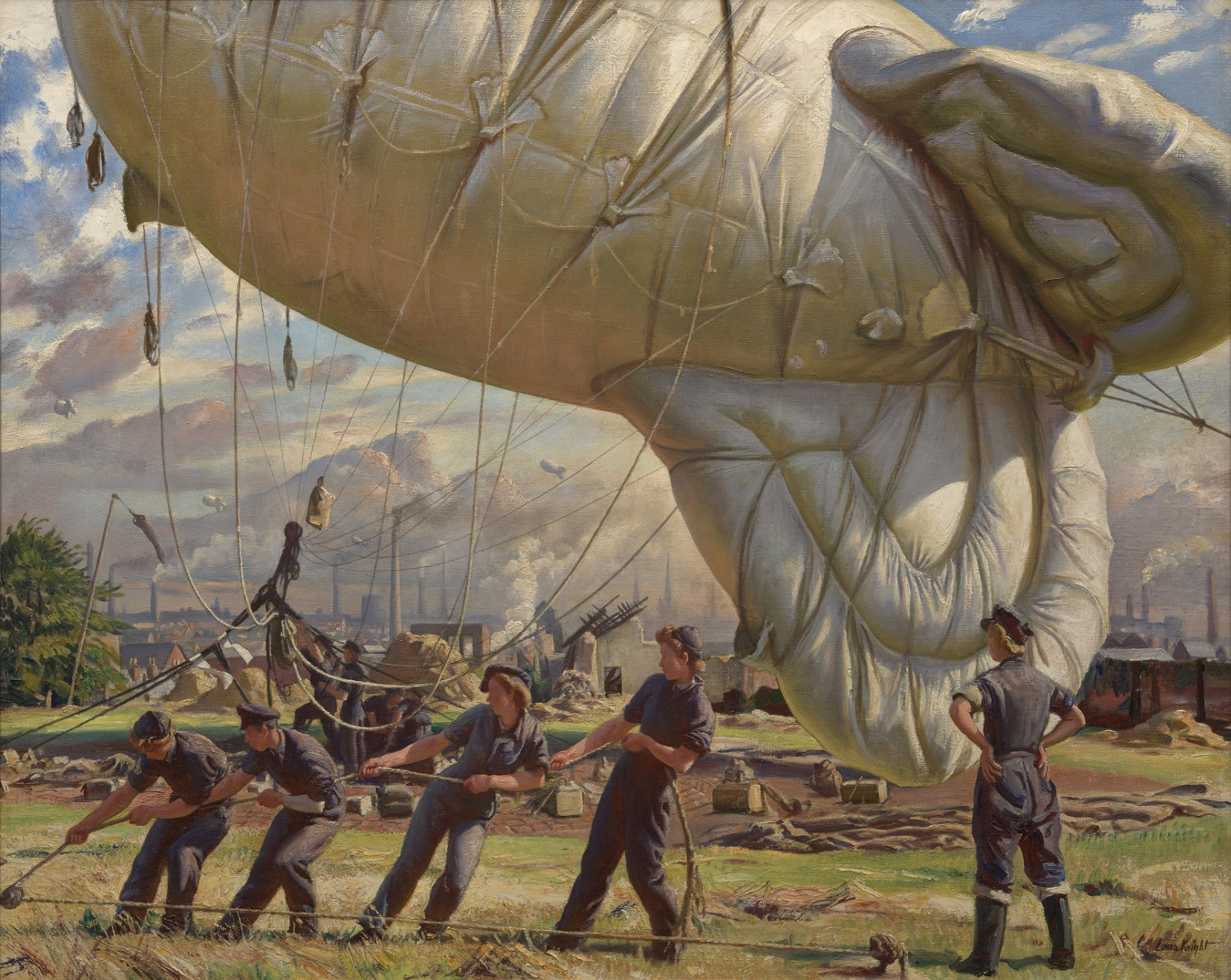 A Balloon Site, Coventry, 1942, LauraKnight