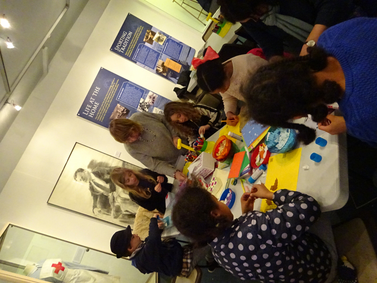 Families enjoying a workshop at the Museum of Richmond