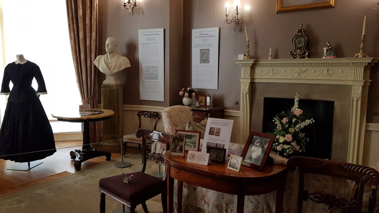 Florence Nightingale display in the boudoir at Lotherton.