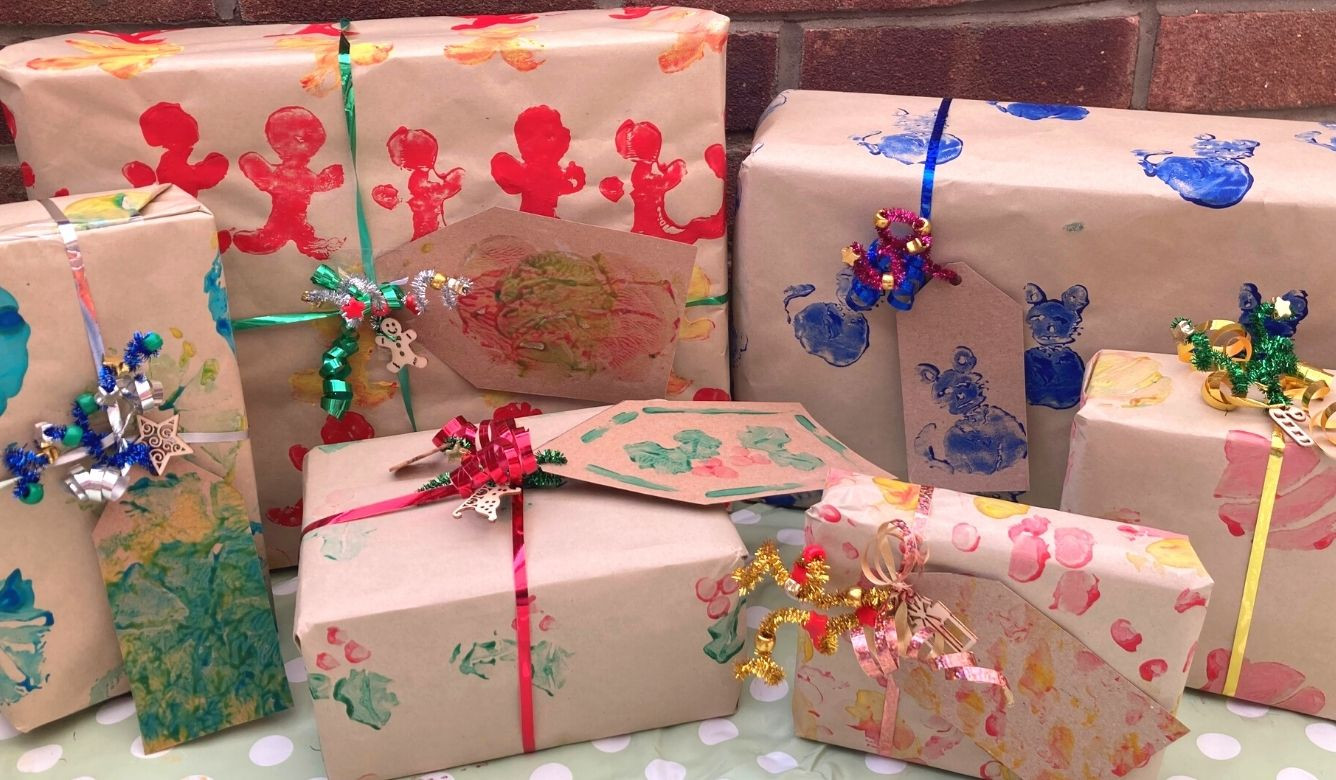 Clay Printed Wrapping Paper