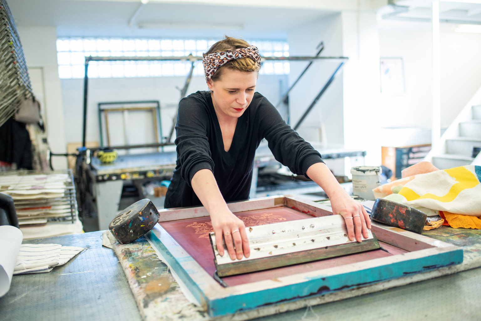 Introduction to Screen Printing Workshop at Dovecot Studios