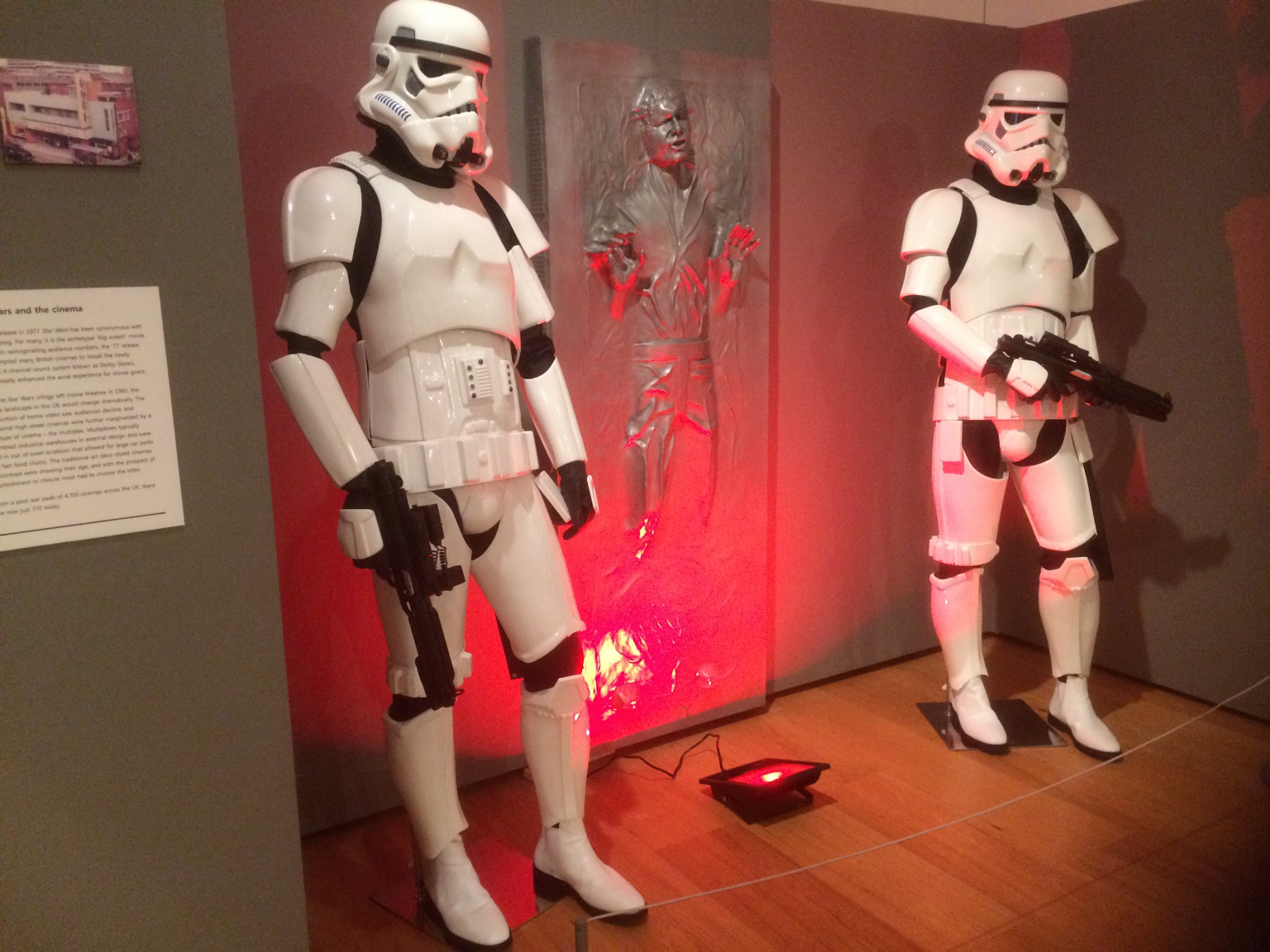 Han Solo in Carbonite with Storm Troopers