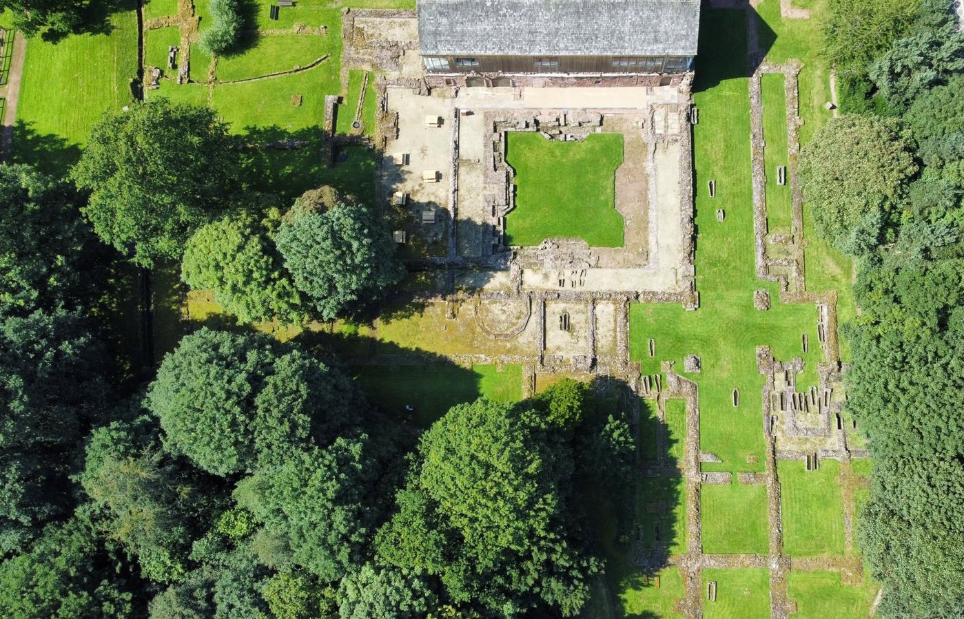 Drone footage of Priory ruins