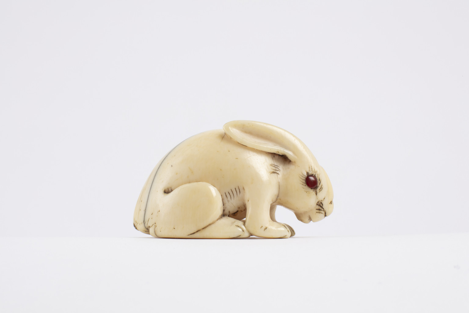 A delicately carved sculpture from Japan called a netsuke