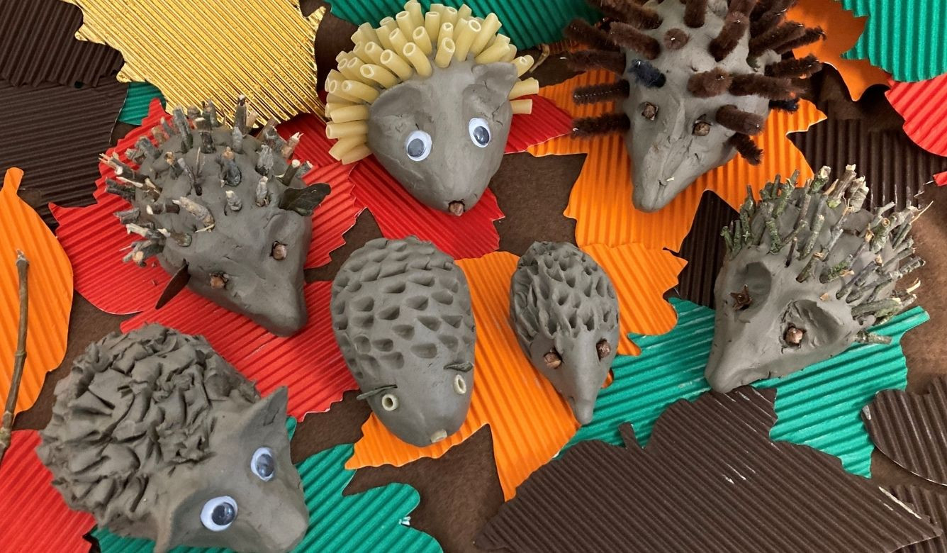 Quirky Clay Hedgehogs