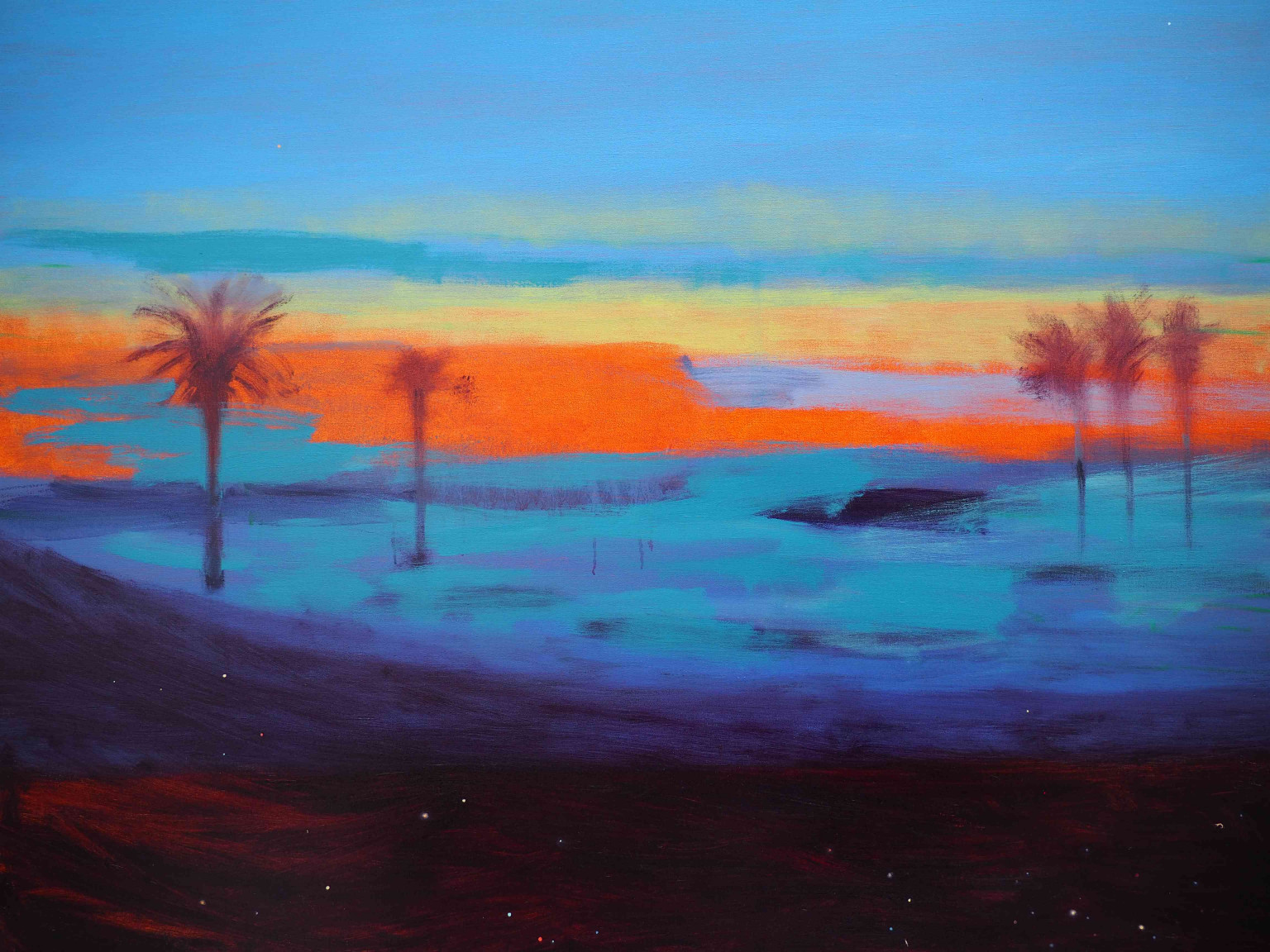 Ocean, Lights and Palms XIII