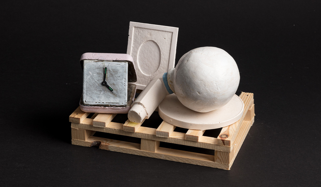 Paul Coldwell, Untitled with Travelling Clock, 2020-21