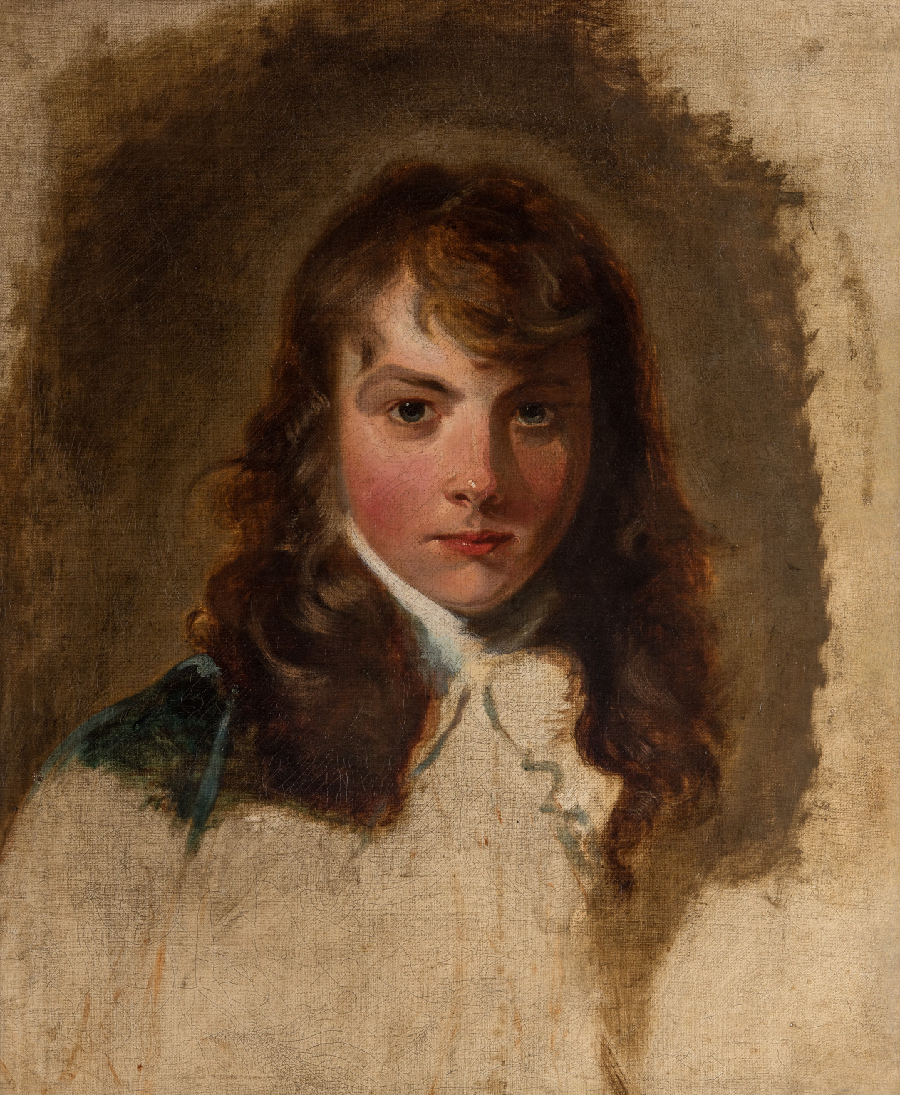 Unfinished Portrait of Arthur Atherley (1772–1844) Oil on canvas, 1791