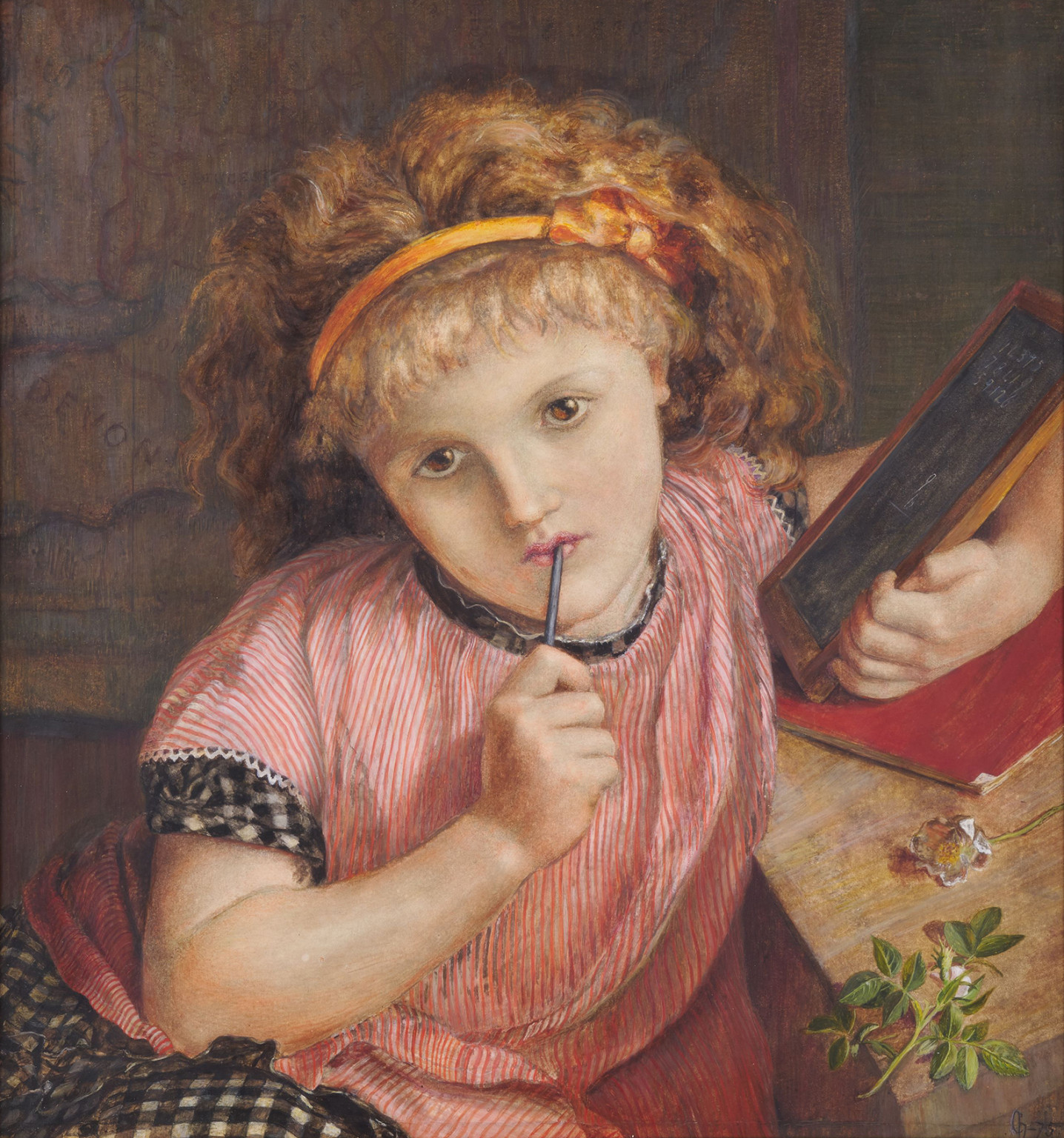 Catherine Madox Brown, A Deep Problem: 9 and 6 make -, 1875, Watercolour on paper, Birmingham Museums Trust.  Photo by Birmingham Museums Trust, licensed under CC0