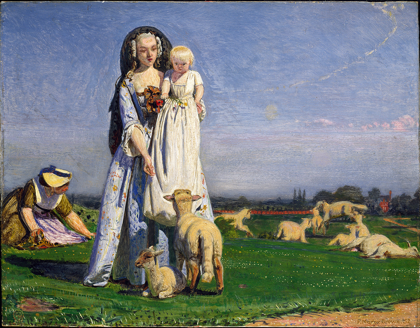 Ford Madox Brown, The Pretty Baa-Lambs, 1852, Oil on panel, The Ashmolean Museum, University of Oxford