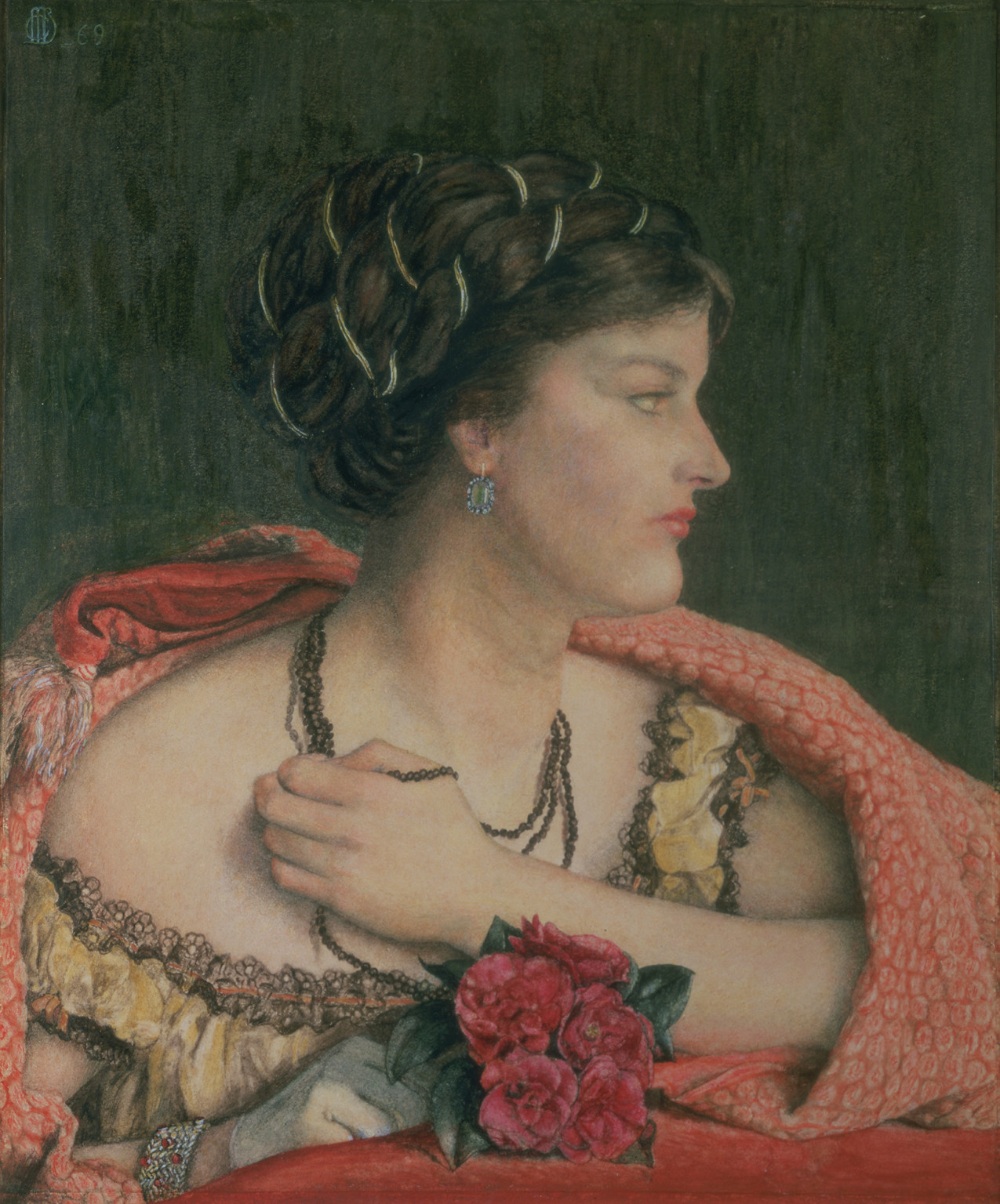 Catherine Hueffer, At the Opera, 1869, Watercolour and pencil, heightened with white, on paper, Private Collection