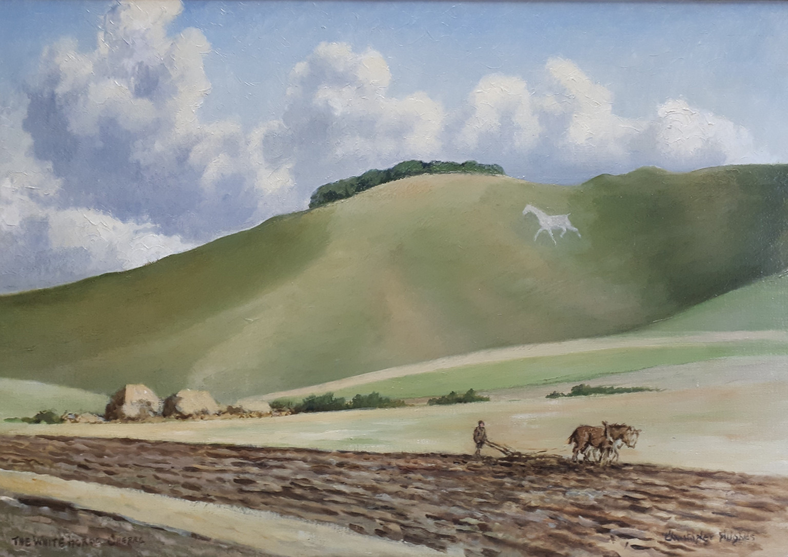 View of the White Horse from Cherhill, by Christopher Hughes