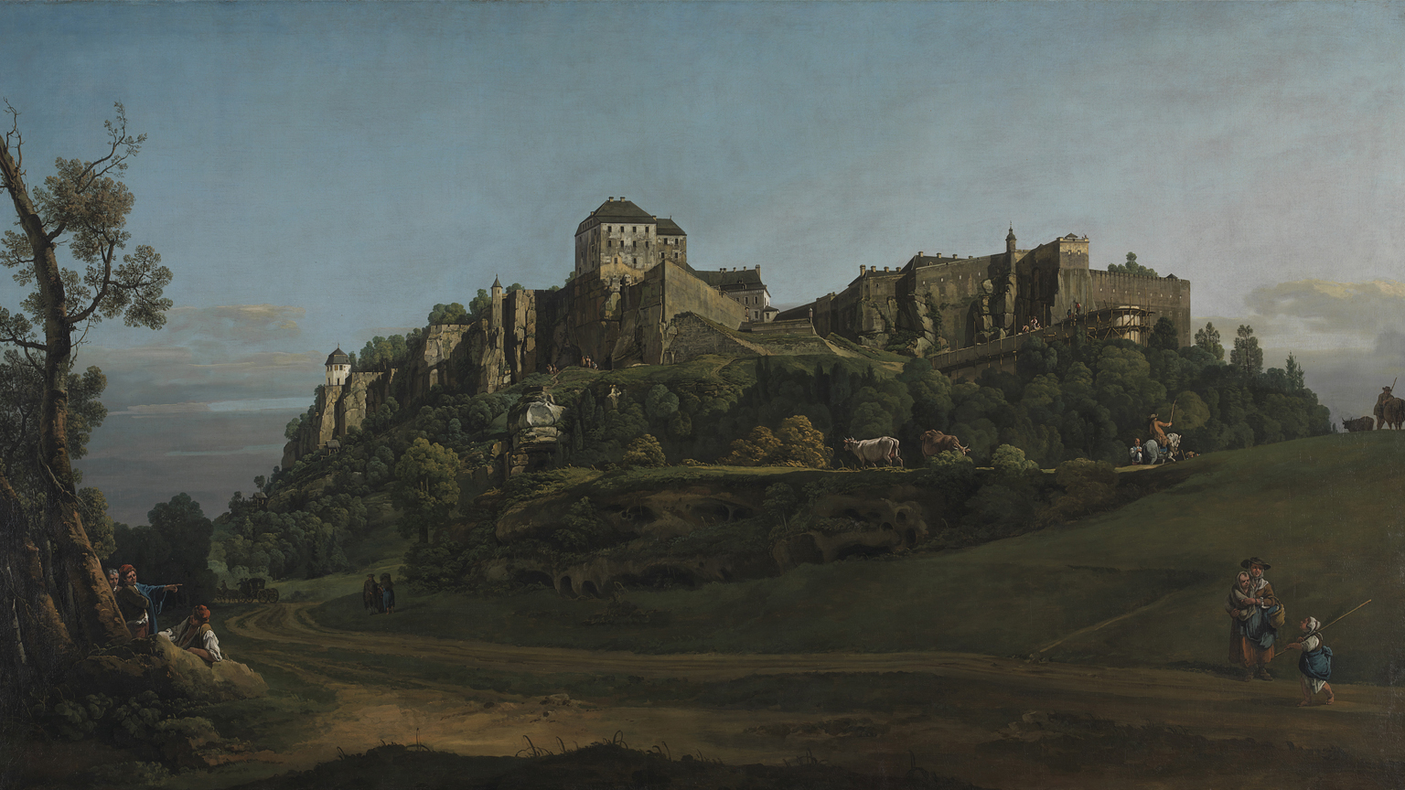 Bernardo Bellotto, The Fortress of Königstein from the North, 1756-8 © The National Gallery, London