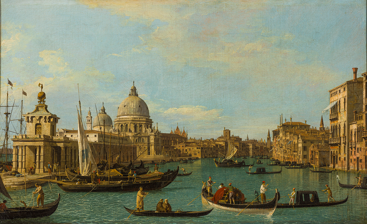 The Entrance to the Grand Canal, with the Dogana and the Church of Santa Maria della Salute, Oil on canvas, 1731-1736