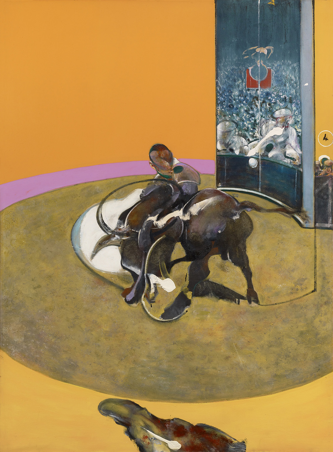 Francis Bacon, Study for Bullfight No. 1, 1969. Oil on canvas, 197.7 x 147.8 cm. Private collection, Switzerland © The Estate of Francis Bacon. All rights reserved, DACS/Artimage 2020. Photo: Prudence Cuming Associates Ltd