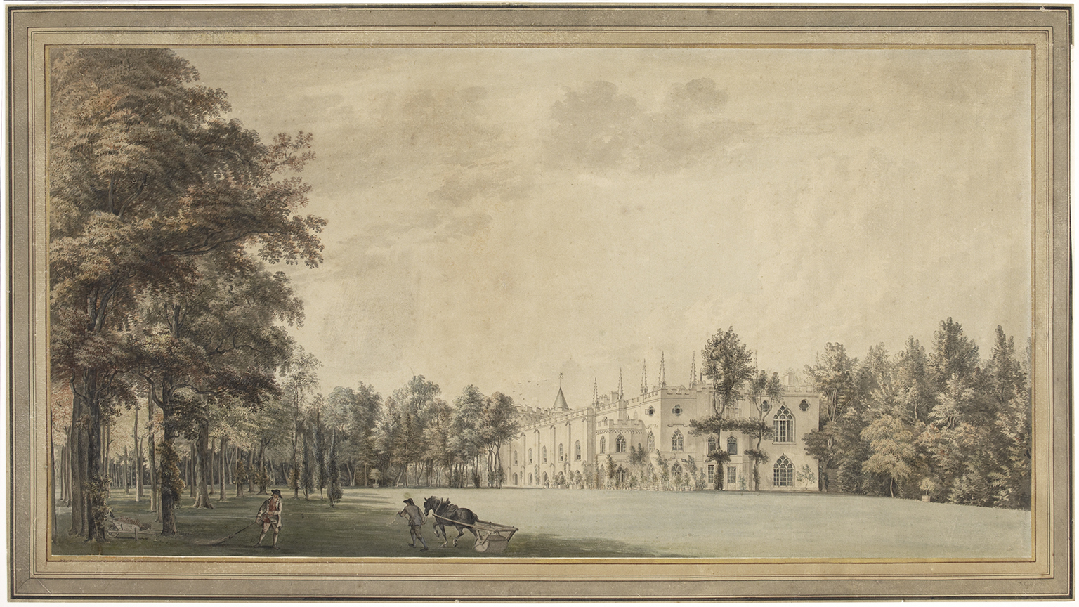 Paul Sandby, Strawberry Hill from the South East, 1774. Watercolour. Courtesy of Lewis Walpole Library, Yale University