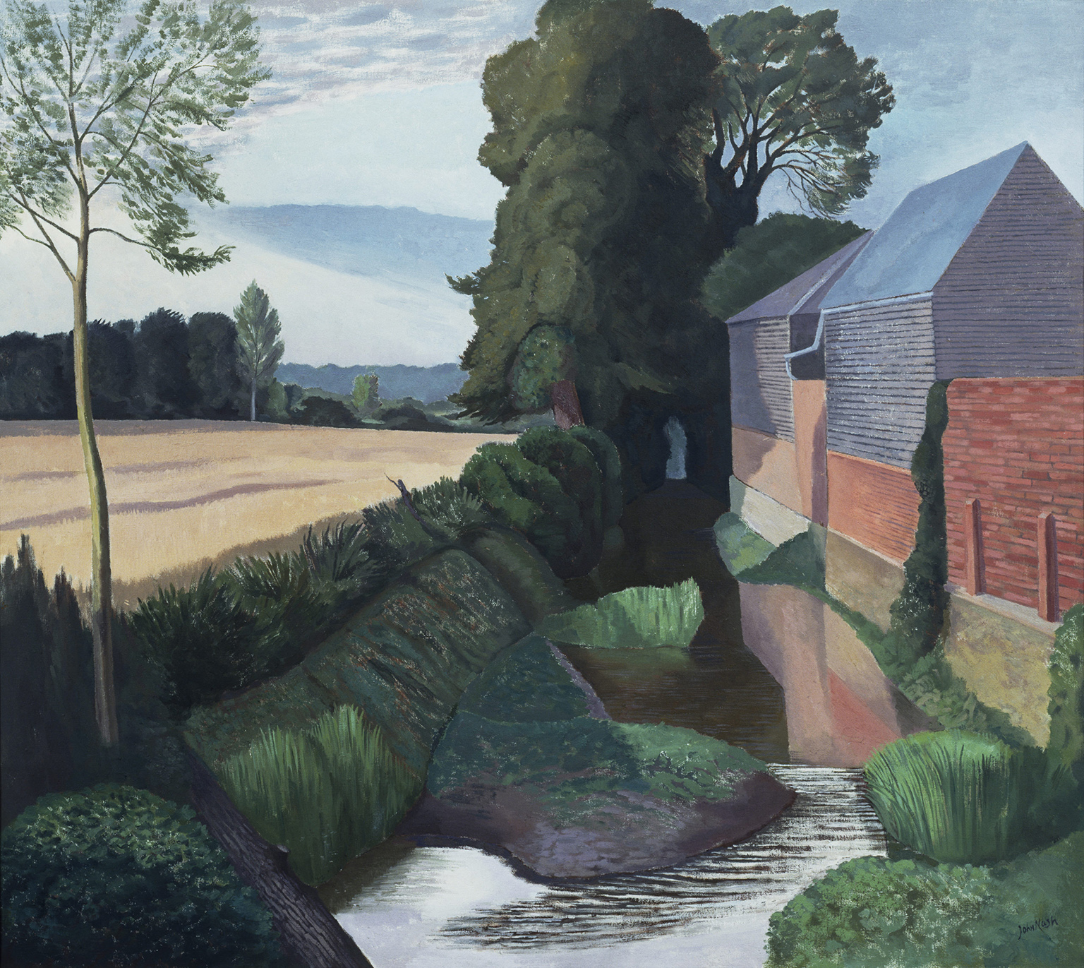 John Nash Mill Building Boxted 1962 oil-on-canvas. Tate. Presented by the Trustees of the Chantrey Bequest 1963.
