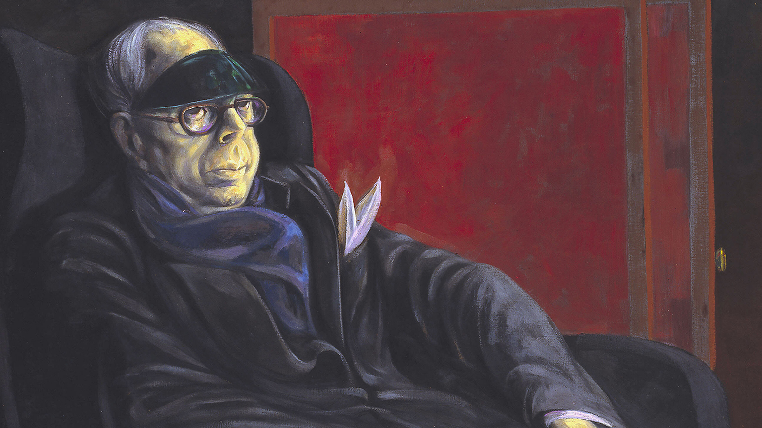 Michael Ayrton (1921-1975), Portrait of Wyndham Lewis ,1955, Oil on canvas © Estate of the artist © Tate